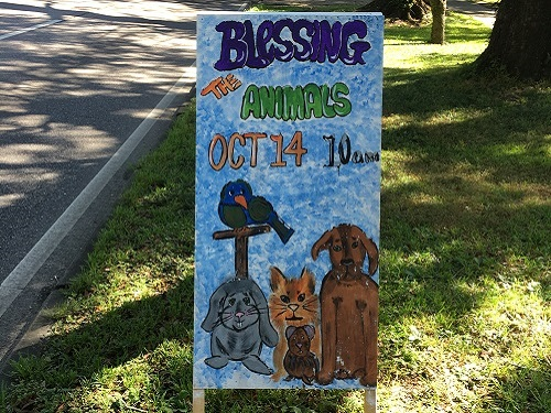 Blessing of the Animals at Cornerstone MCC
