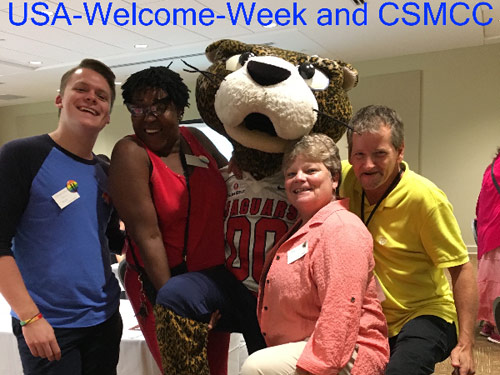 CMCC with USA's Jaguar Mascot