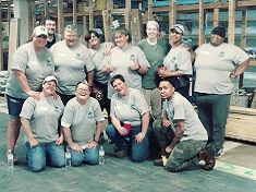Women's Group at a Habitat for Humanity Build